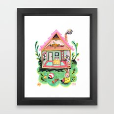 Rebecca Rabbit, Her House, and Her Belongings Framed Art Print