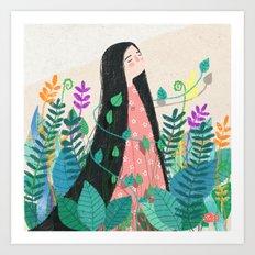 Grow with nature Art Print
