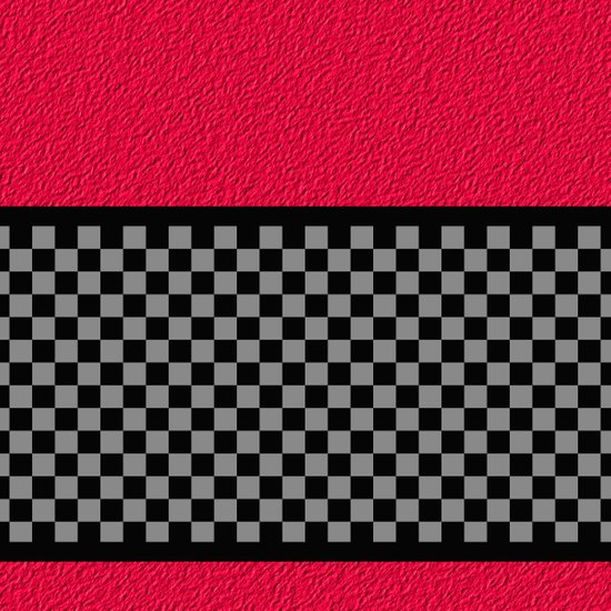 Checkered/Textured Red Art Print