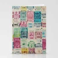 Random Bus Tickets Stationery Cards