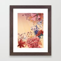 The flowers Framed Art Print