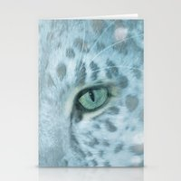 Snow Leopard day Stationery Cards