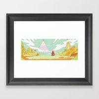 Sun / Lake / Ruby / Lemon Framed Art Print