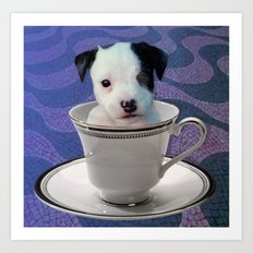 Pup in a Cup Art Print