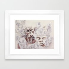 hazy subconscious Framed Art Print