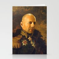 Stationery Cards featuring Bruce Willis - Replacefa… by Replaceface