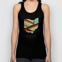 Ohio state map modern Unisex Tank Top