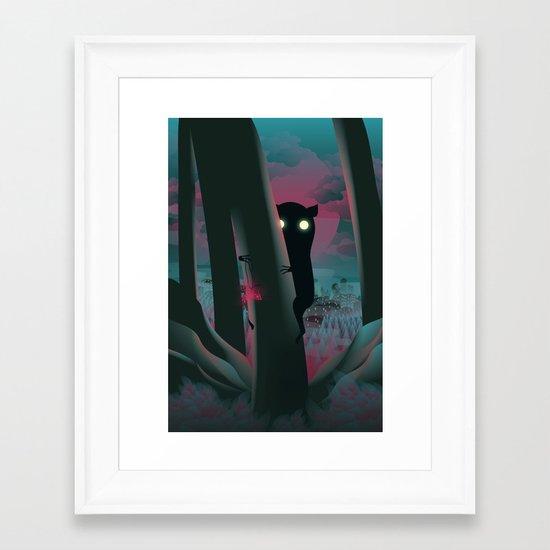 I Have A Gift For You… Framed Art Print