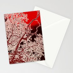 Surreal Red Harmony Stationery Cards