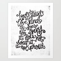 LOVE IS PATIENT... Art Print