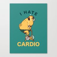I Hate Cardio Canvas Print