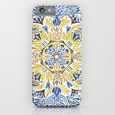 Wheat field with cornflower - mandala pattern iPhone 6 Slim Case