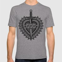 Betrayal Mens Fitted Tee Athletic Grey SMALL