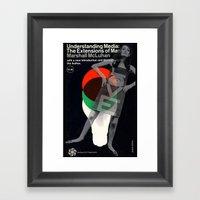 LOVE media Framed Art Print