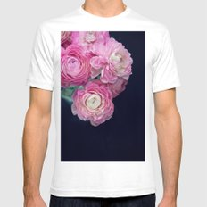 pink on black Mens Fitted Tee White SMALL