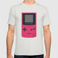 GAMEBOY Color - Pink Version Mens Fitted Tee Silver SMALL