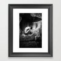 In Utero - Black And Whi… Framed Art Print