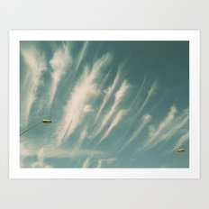 feather clouds Art Print