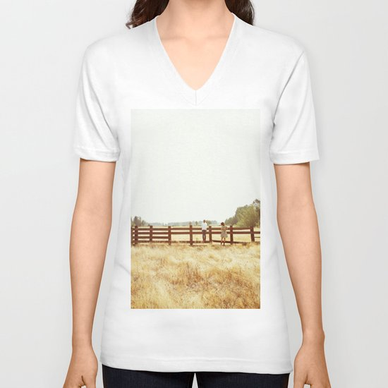 Fence Standing V-neck T-shirt