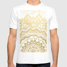 GOLD ORION JEWEL MANDALA Mens Fitted Tee White SMALL