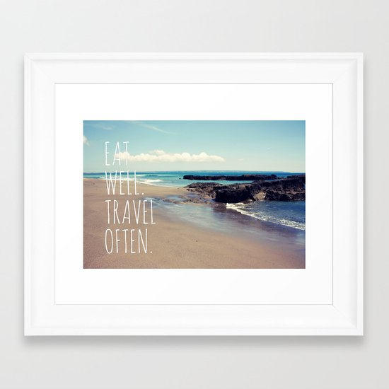 Eat Well Travel Often Framed Art Print