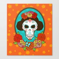 Day of the Dead Beauty Canvas Print