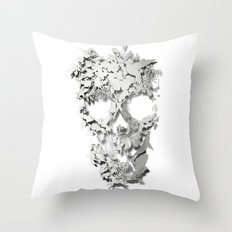 Simple Skull Throw Pillow