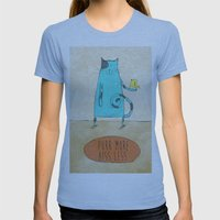 Purr More Hiss Less Womens Fitted Tee Athletic Blue SMALL