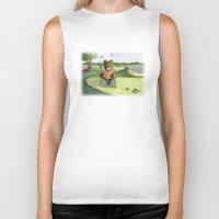 Golfer Bear Biker Tank