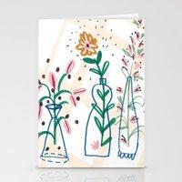 Flowers. Vase, Illustrat… Stationery Cards