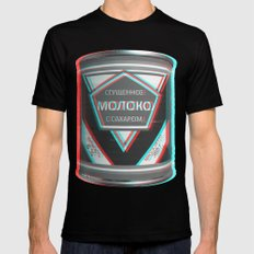 Condensed Milk (Sgushchennoye Moloko)  3D Mens Fitted Tee SMALL Black