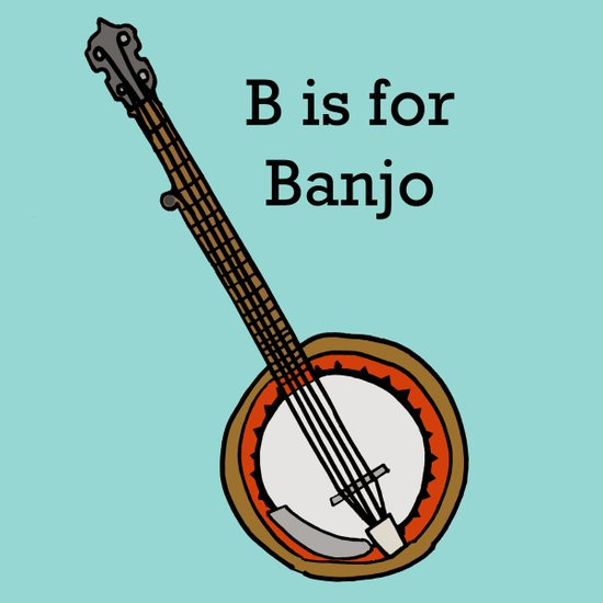 B is for Banjo, typed. Art Print