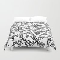 Abstraction Partial Grid Duvet Cover