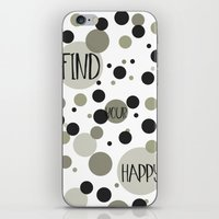 Find Your Happy Gold Bla… iPhone & iPod Skin