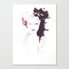 Fashion illustration in watercolors Canvas Print