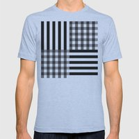 monochrome pattern  Mens Fitted Tee Athletic Blue SMALL