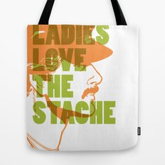 Ladies Love the Mustache Tote Bag
