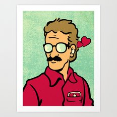 I Love My Operating Syst… Art Print