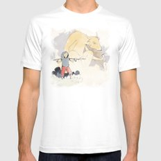henon Mens Fitted Tee SMALL White