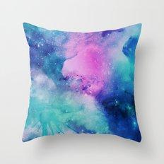Watercolor Universe Throw Pillow