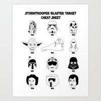 Stormtrooper Blaster Tar… Art Print