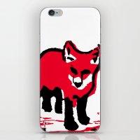 Red Fox Stamp iPhone & iPod Skin