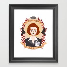 Dana Scully Framed Art Print