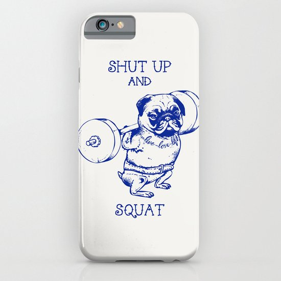 Pug Squat iPhone & iPod Case