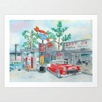 In My Chevrolet Art Print