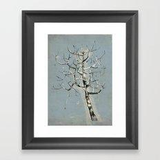 button tree Framed Art Print