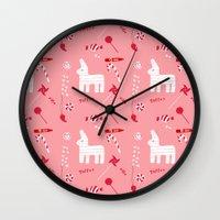 Piñata Party Wall Clock