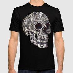 Ornate Skull MEDIUM Mens Fitted Tee Black