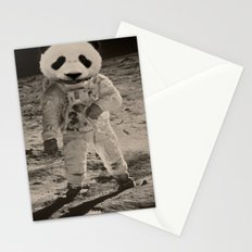 One Small Step For Man, One Giant Panda For Mankind Stationery Cards