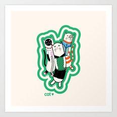 Joana's cats Art Print